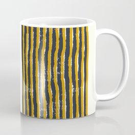 Zen Stripe Block Print Mustard Coffee Mug