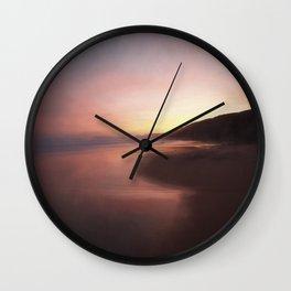 Sunrise on the coast Wall Clock