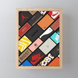 Sneaker Box Poster Framed Mini Art Print