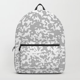 Small Spots - White and Silver Gray Backpack