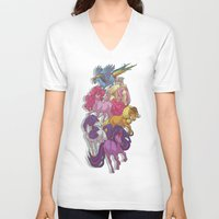 mlp V-neck T-shirts featuring MLP... esque by Sempaiko
