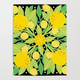 When life gives you lemons, make a lemon pattern Poster