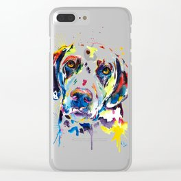 Colorful Dalmatian Illustration Clear iPhone Case