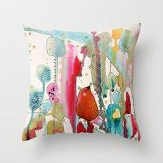 jouons aux bois Throw Pillow