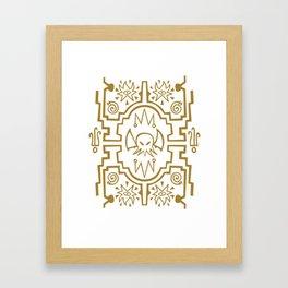 Lovecraftian pattern dark Framed Art Print