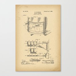 1900 Patent Bicycle carrier Canvas Print
