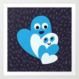 Happy Hearts Family Art Print