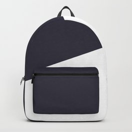 Urban Geometry Navy Blue + White Backpack
