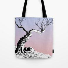 Tree with Rocks Tote Bag