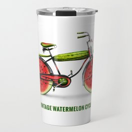 ORGANIC INVENTIONS SERIES: Vintage Watermelon Bicycle Travel Mug