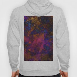 Day Dreaming - Abstract, metallic, textured, paint splatter style artwork Hoody