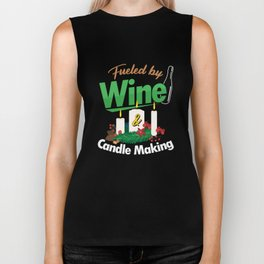 Fueled By Wine Chandler Candlemaker Candlemaking Candlelight Gift Biker Tank