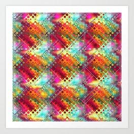 carré losange de couleur Art Print