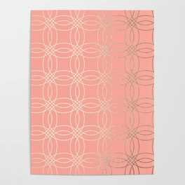 Simply Vintage Link in White Gold Sands and Salmon Pink Poster