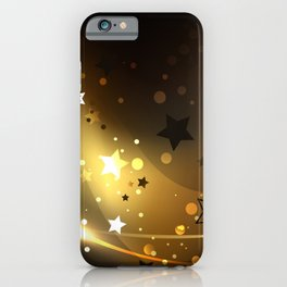 Abstract Background with Golden Stars iPhone Case
