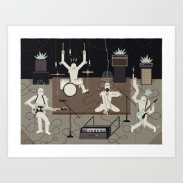 The Mummies Art Print