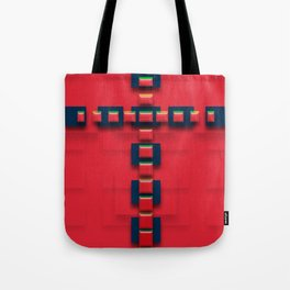 Christian cross from stones of a red ruby Tote Bag