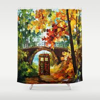 fandom Shower Curtains featuring starry Abandoned phone box Under the bridge iPhone 4 4s 5 5c 6, pillow case, mugs and tshirt by Three Second