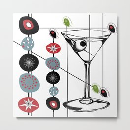Mid-Century Modern Art Atomic Cocktail 3.0 Metal Print