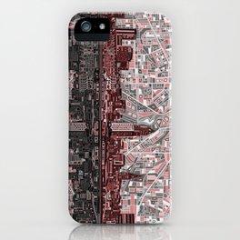 cleveland city skyline iPhone Case