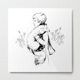 Le Petit Prince Vector Metal Print