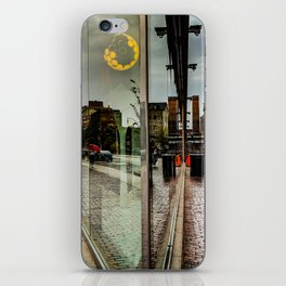 Reflections of a rainy day in the distillery iPhone Skin