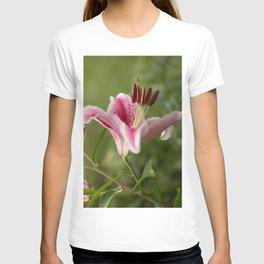 Pink Lily in The Autumn Garden #decor #society6 #buyart T-shirt