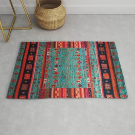 N41 - Blue Bohemian Traditiona Moroccan Artwork. Rug