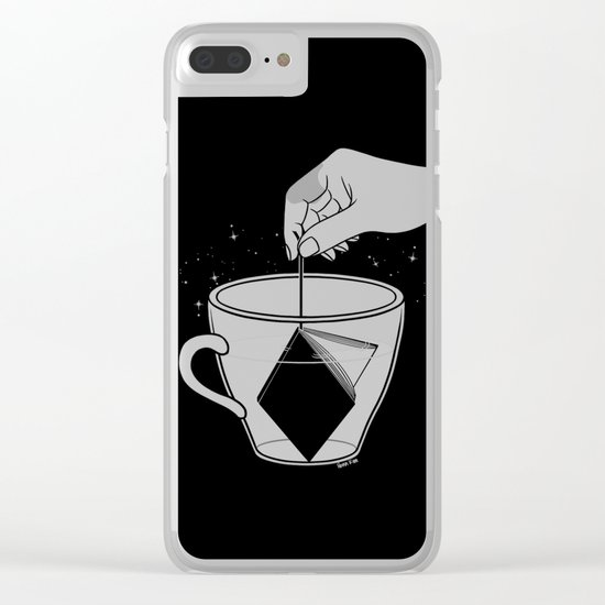 A Cup of Book Clear iPhone Case