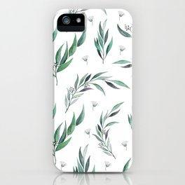 Native Gum Leaves iPhone Case