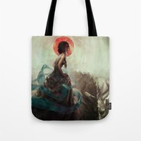 witchcraft Tote Bags featuring Witchcraft by Camila Vielmond