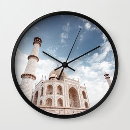 taj mahal in agra Wall Clock