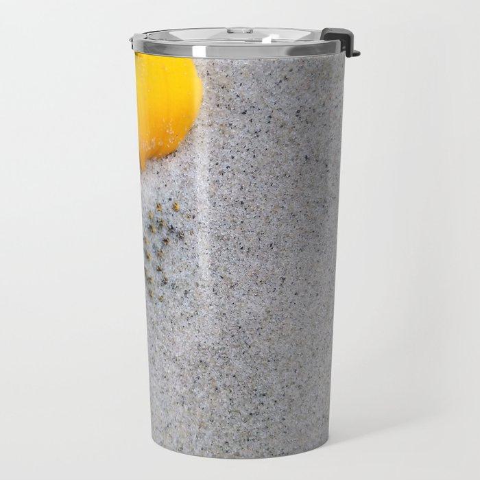 Sunflower in the Sand Travel Mug