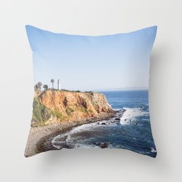 Point Vicente Lighthouse (color version) Throw Pillow