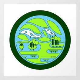 birdland wetland ecopop Art Print