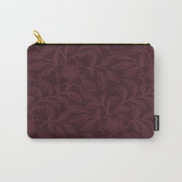 Tawny Port Lace Floral Carry-All Pouch