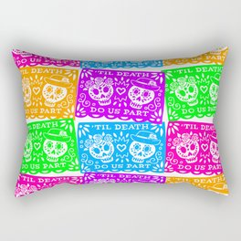 Day of the Dead Sugar Skull Papel Picado Flags Rectangular Pillow