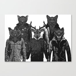 The Animal Collective Canvas Print