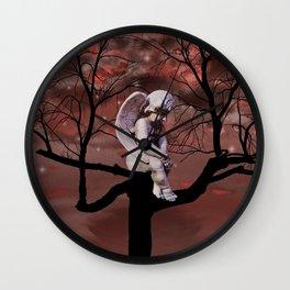 Angel Cherub Child Tree Starry Sky Art A329 Wall Clock