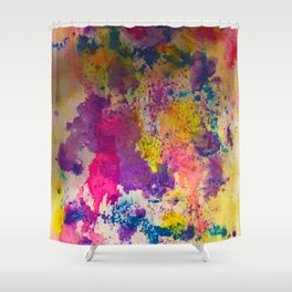 Water Color Fanatic Shower Curtain