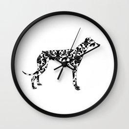 Baroque Greyhound Wall Clock
