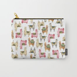 Llama love / Alpaca adventure wanderlust travel / animal baby nursery gift for her shower decor Carry-All Pouch