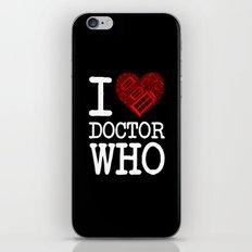 I love Doctor Who (Tardis Heart) I Love New York Mashup 2nd Version iPhone & iPod Skin
