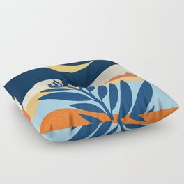 Moon + Night Bloomer / Mountain Landscape Floor Pillow