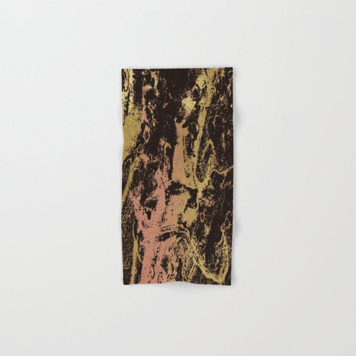 Rose gold & gold marbled Hand & Bath Towel