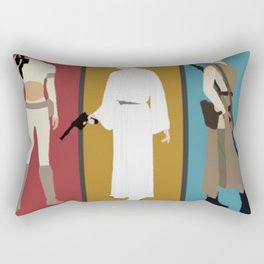 Star Wars' Bad Ass Ladies (With Border) T-Shirt Rectangular Pillow