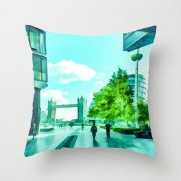 The South Bank Near Tower Bridge Throw Pillow