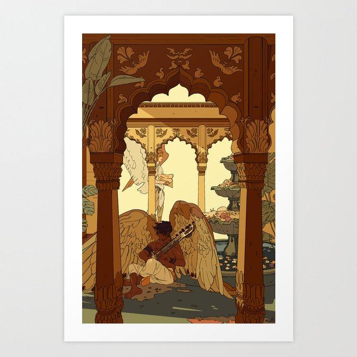 Angels in Oasis Kunstdrucke