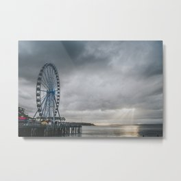 Seattle Wheel Metal Print