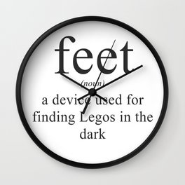 WHAT ARE FEET? - DEFINITION Wall Clock